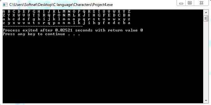 Characters in C