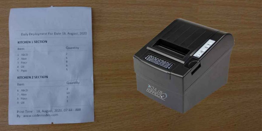 Print on thermal printer