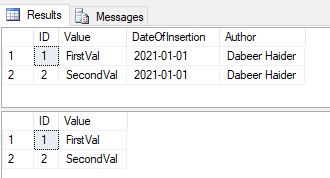 OUTPUT clause in SQL SERVER