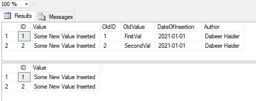 OUPTUT clause in SQL SERVER